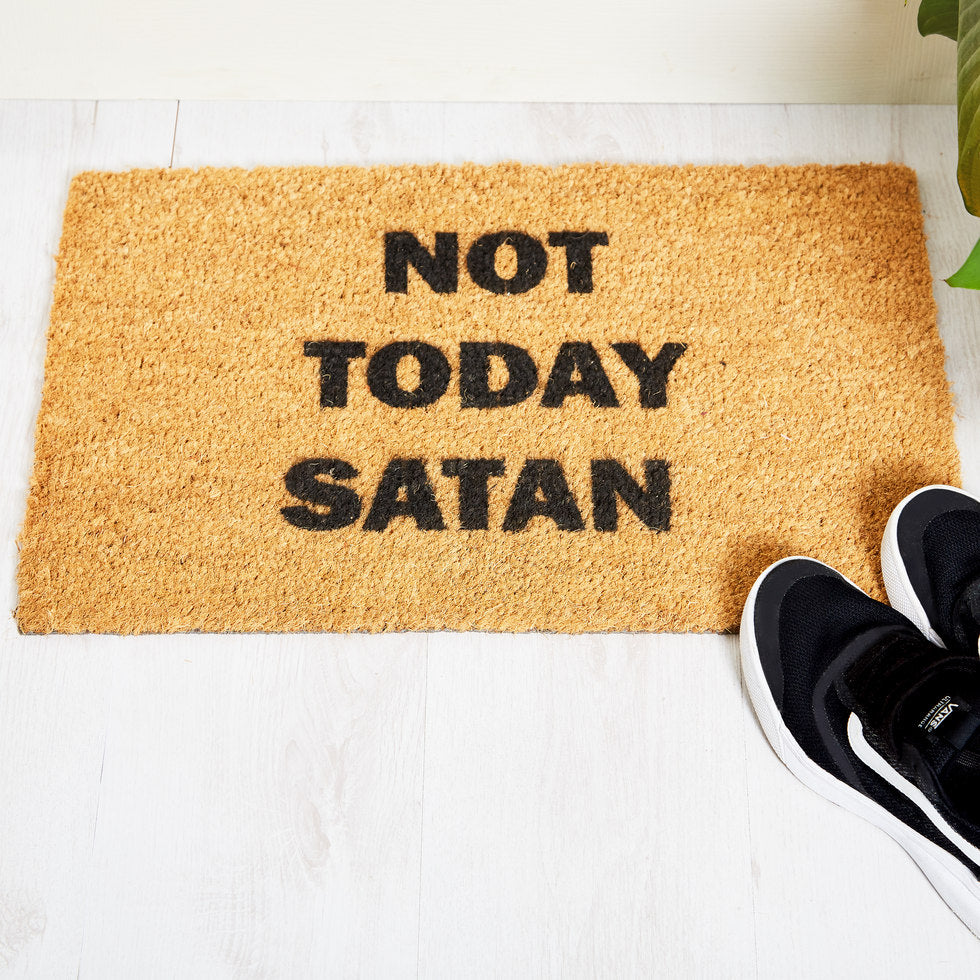 Not Today Satan Doormat