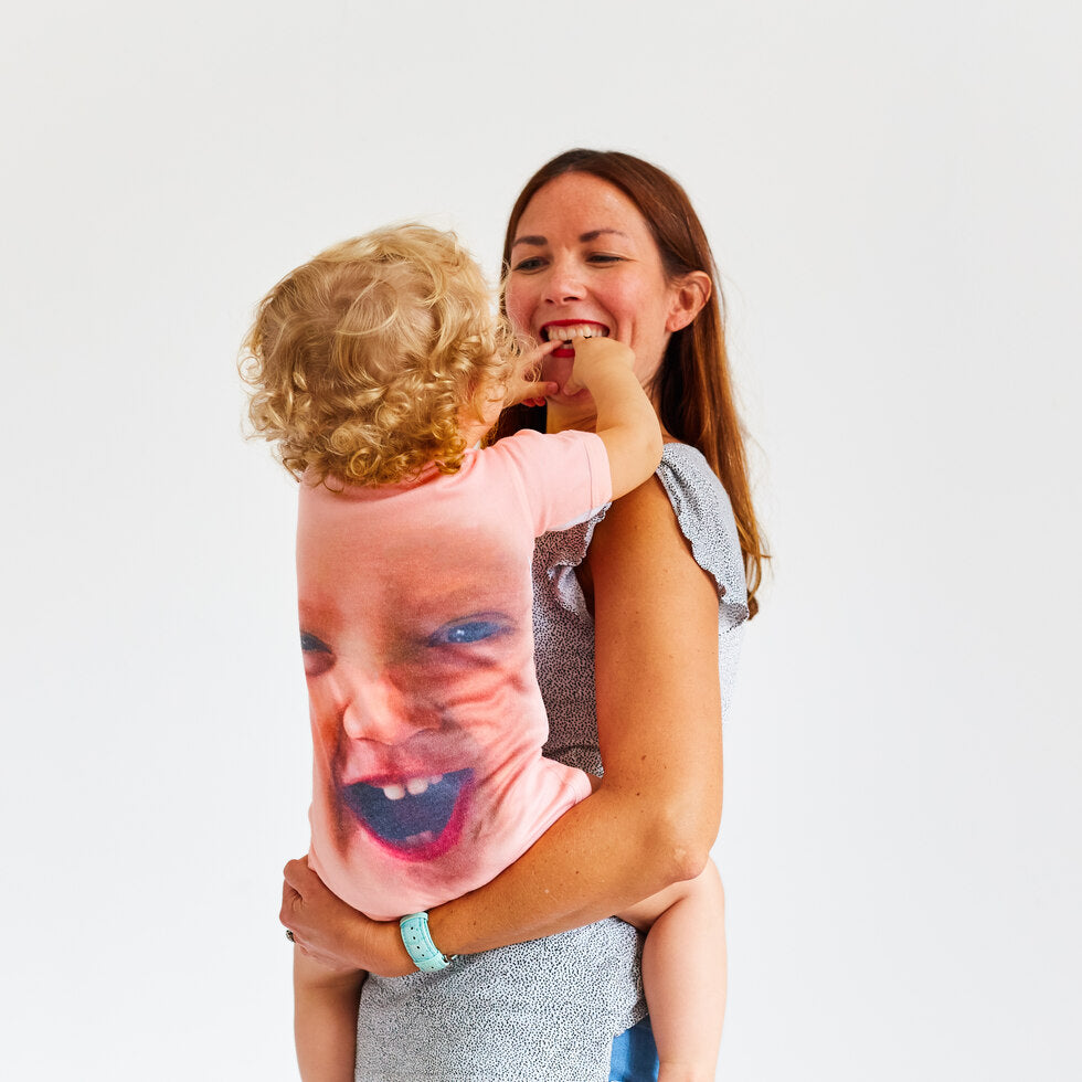 Baby Face - Personalised Baby Grow