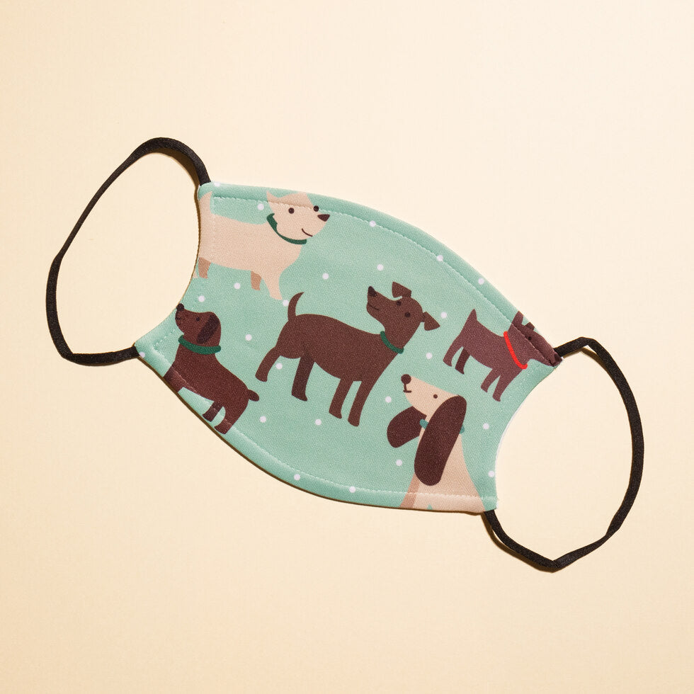 Dog Reusable Face Masks - Blue Doggos