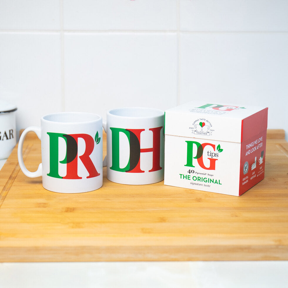 PG Tips Personalised Mug and Tea Set - Duo Mug and Tea