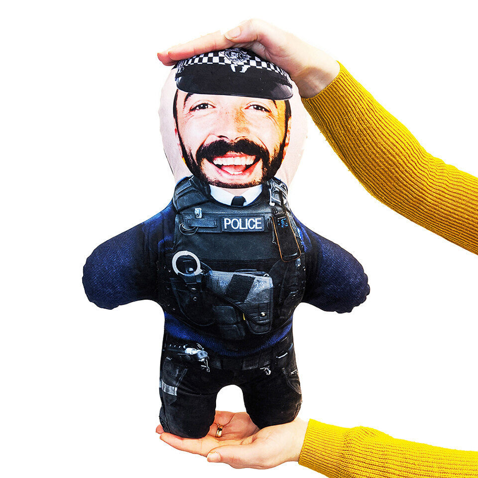Mini Me Police Man - Personalised Doll - Skin Tone A