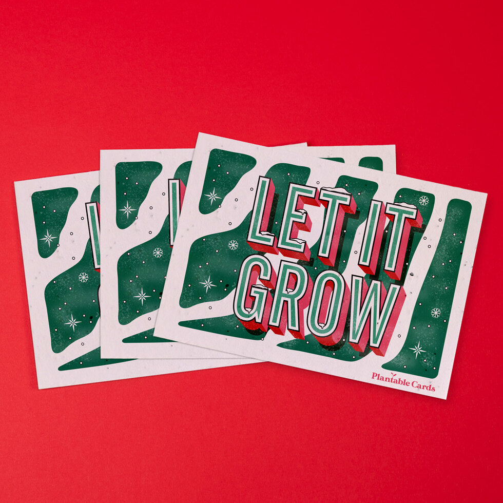 Plantable Christmas Card - Eco Friendly Seed Paper - Pack of 3