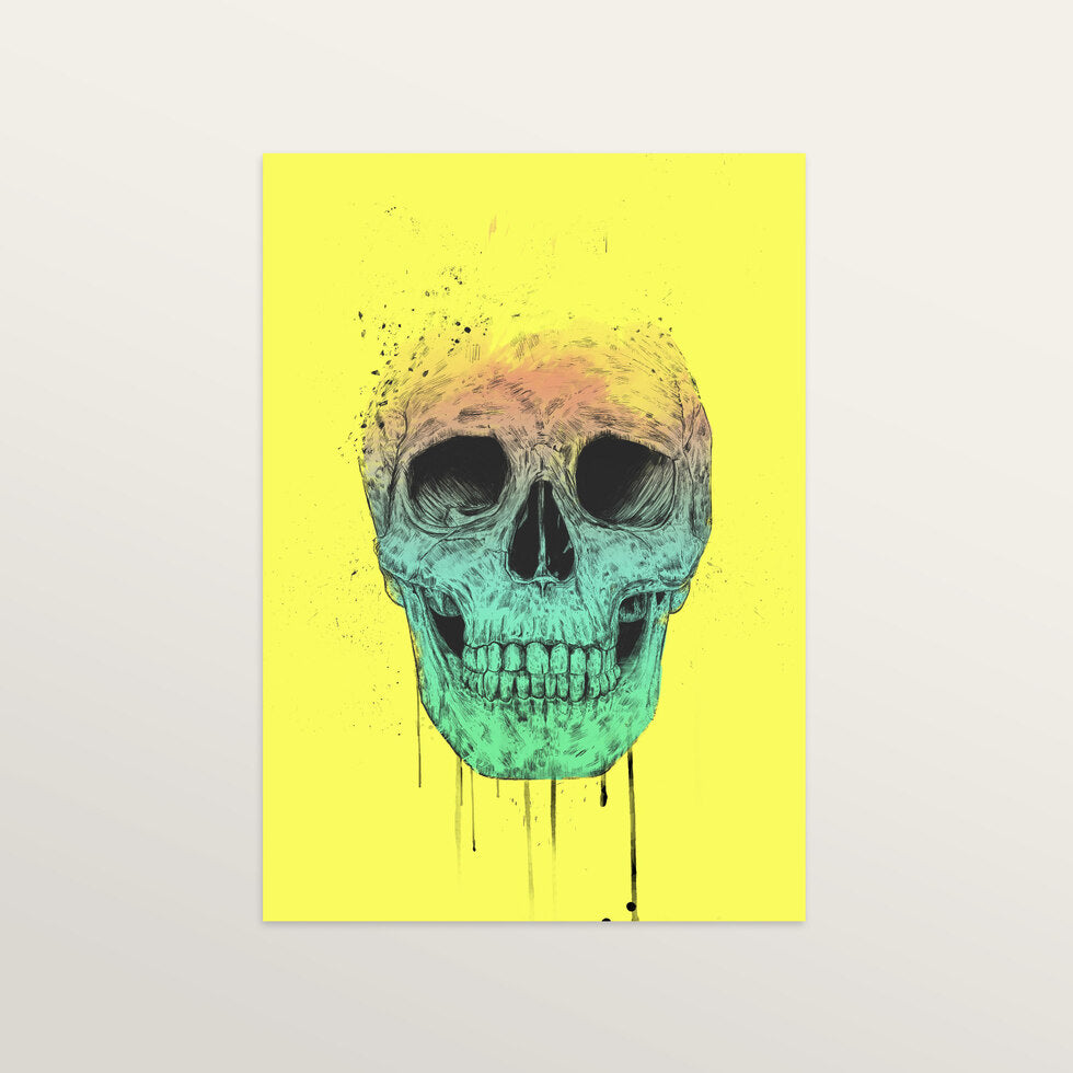 Pop Art Skull - Art Print - medium A3 print only