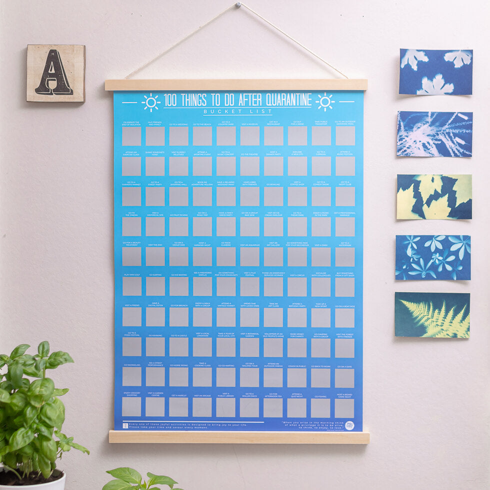 100 Things to Do After Quarantine Scratch Poster