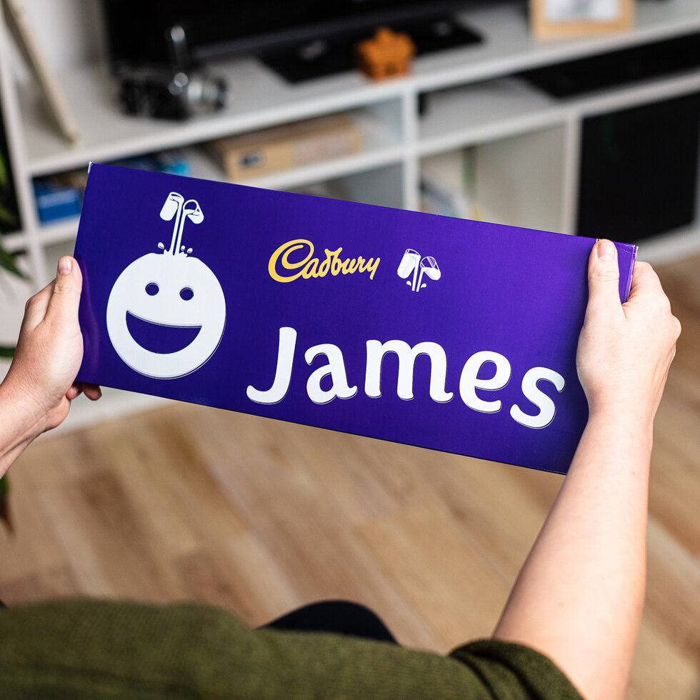Personalised Christmas Cadbury Dairy Milk 850g - Face Emoji