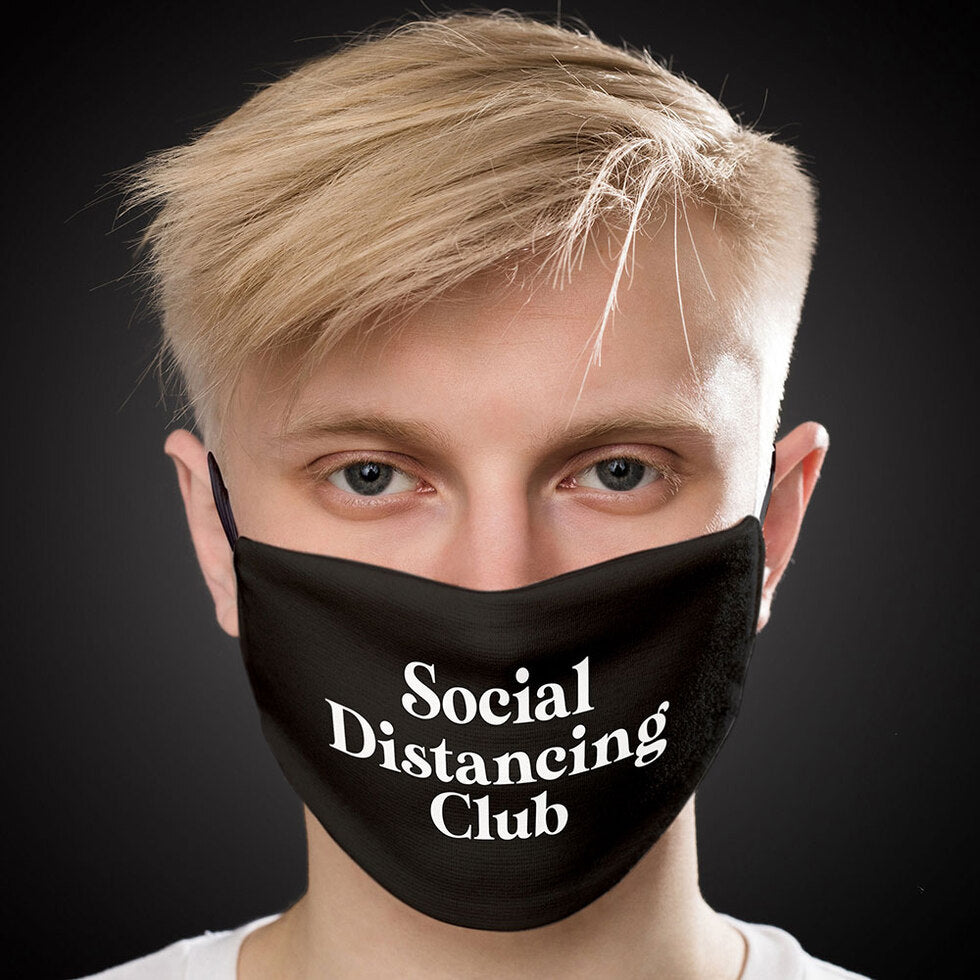 Firebox™ Reusable Face Masks - Social Distancing Club