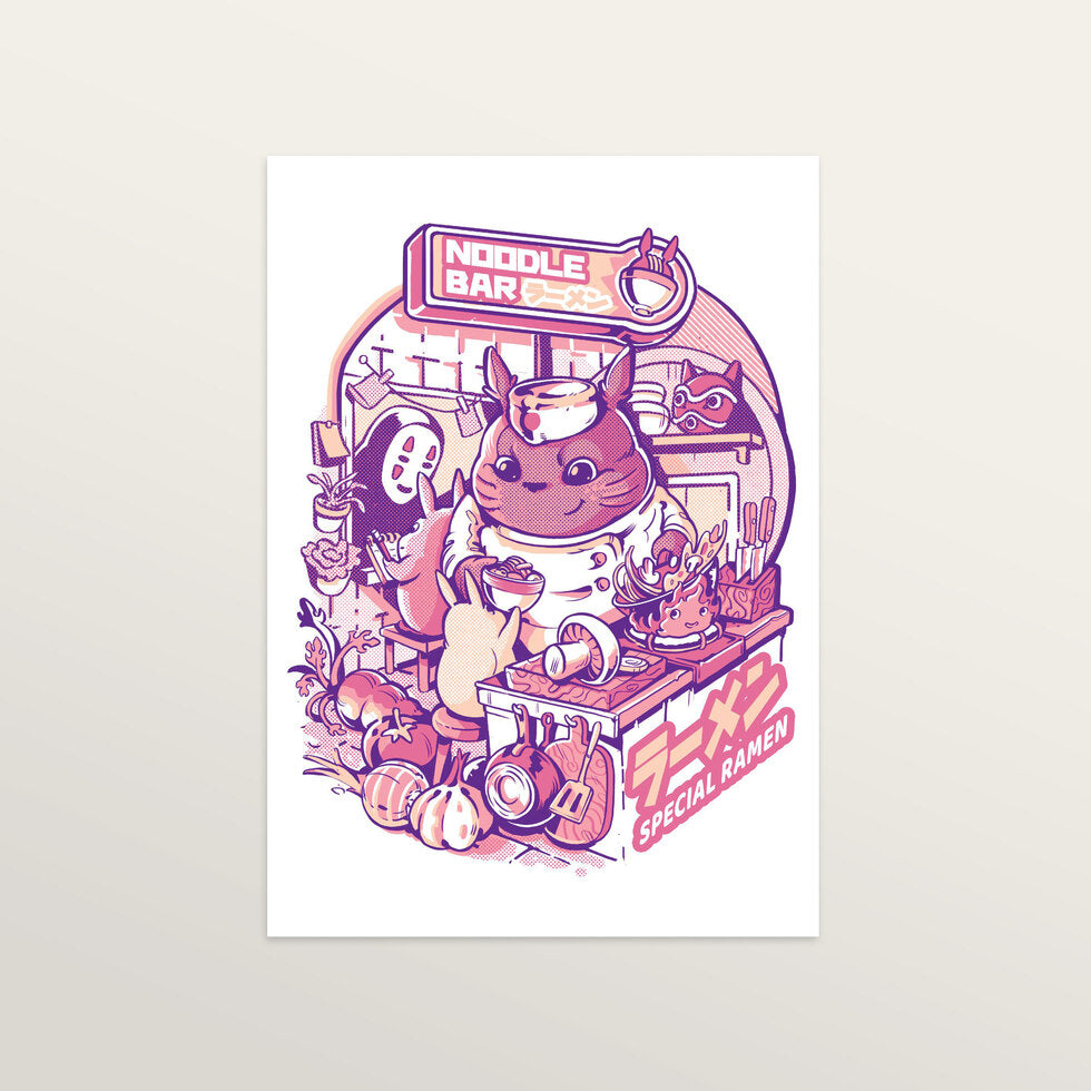 My Neighbor Noodle Bar - Art Print - medium A3 print only