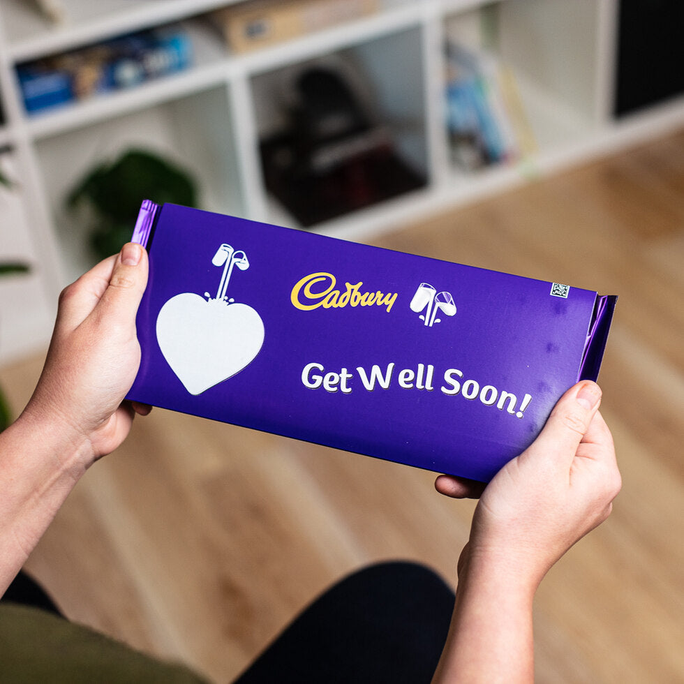 Personalised Cadburys Dairy Milk 360g - Heart Emoji