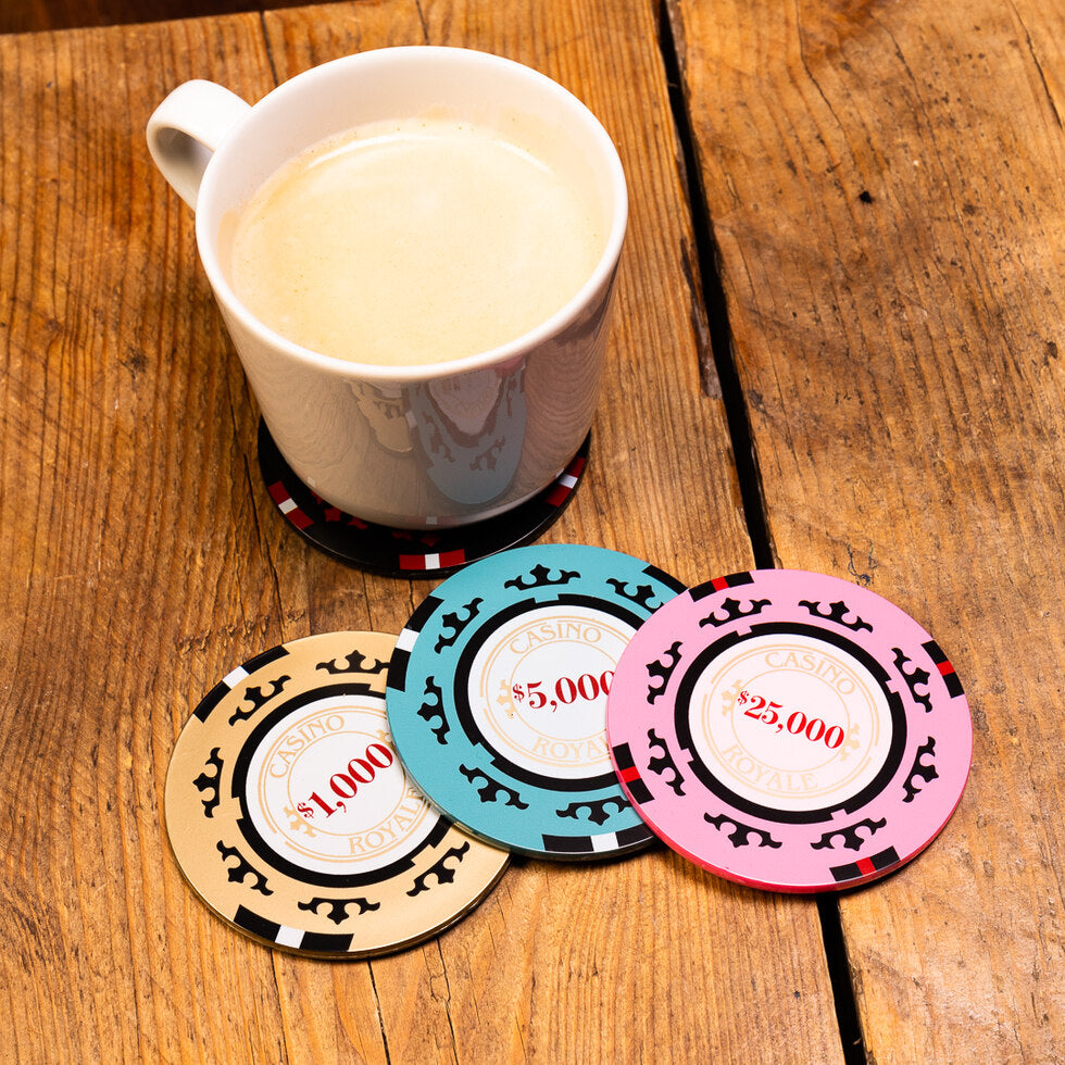 007 Casino Royale Poker Chip Coasters