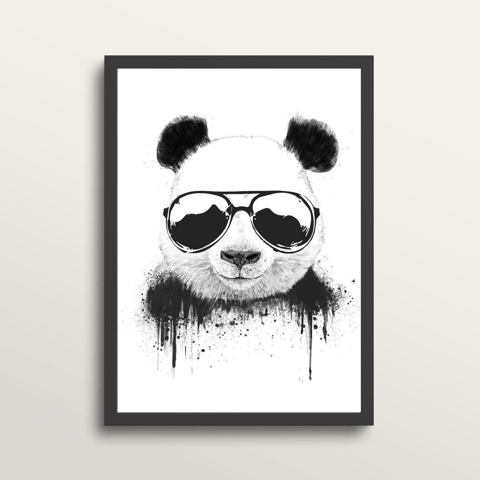 Stay Cool - Art Print - in medium A3 black frame