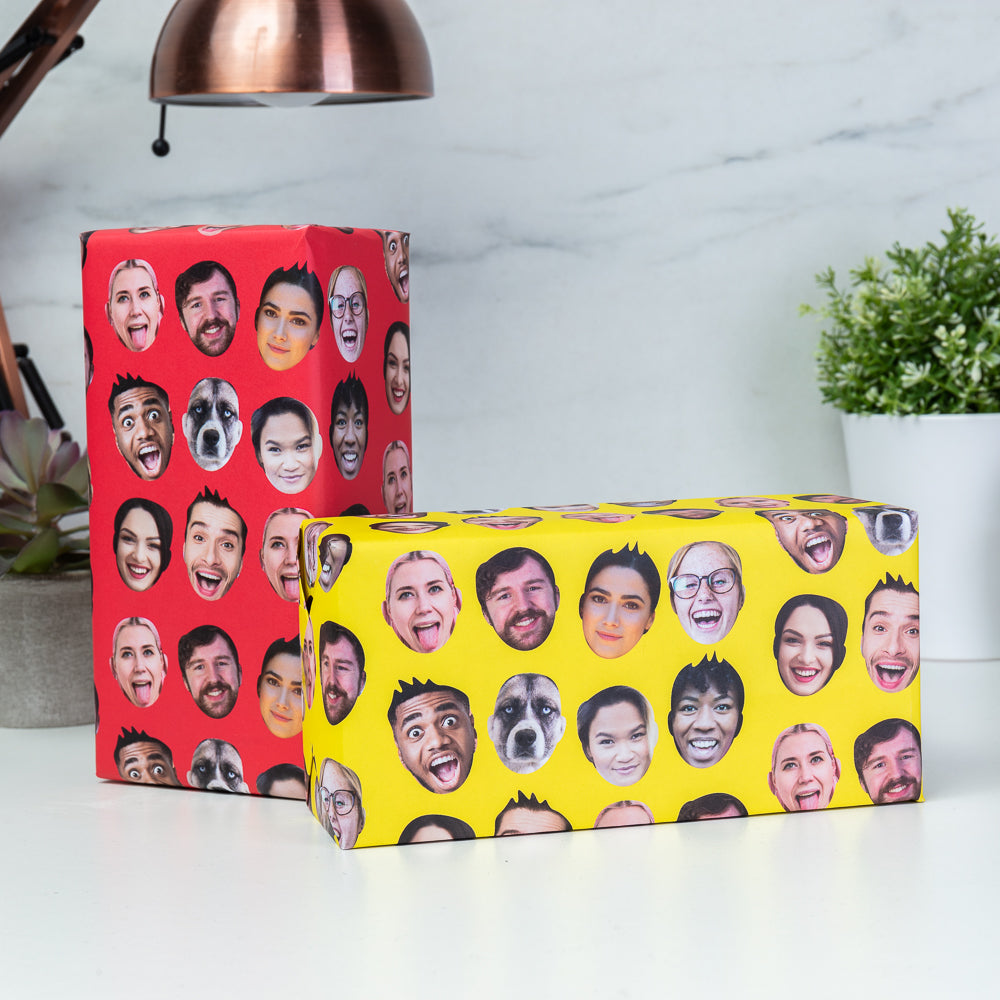Multi Face Gift Wrap - Personalised Face Upload Gift Wrap