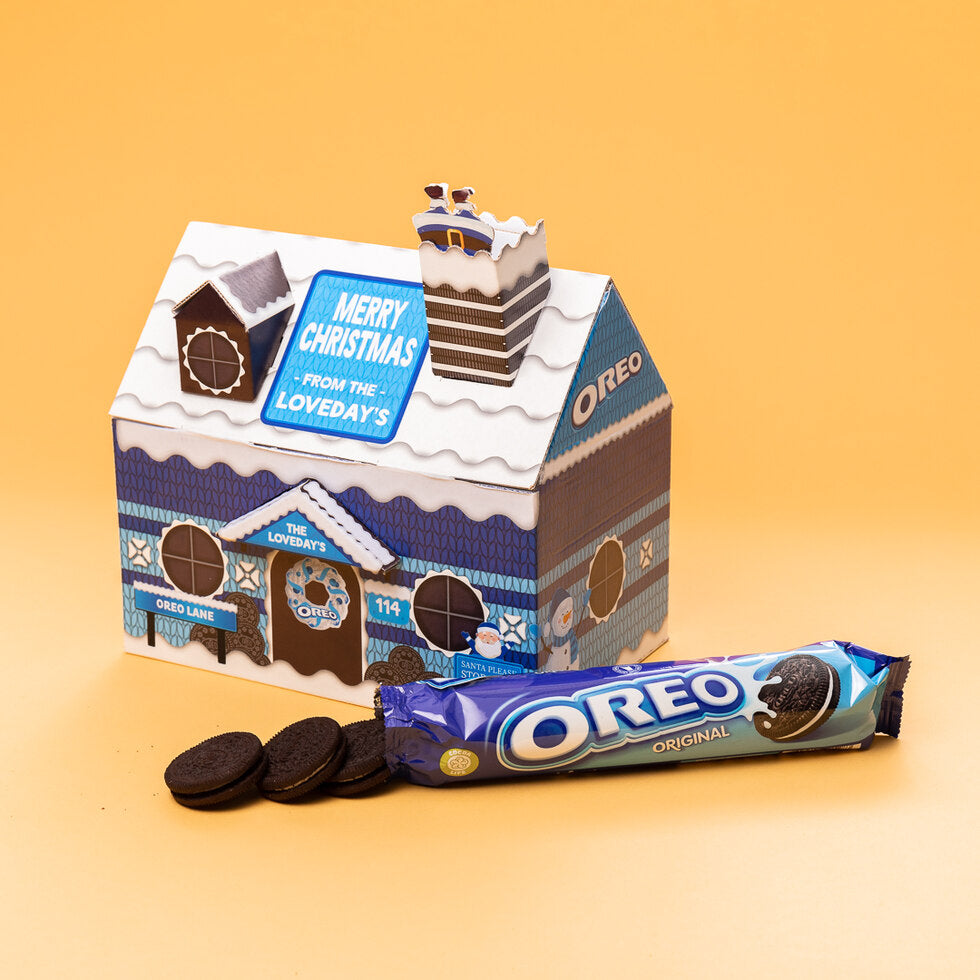 Personalised Oreo Christmas Cottage