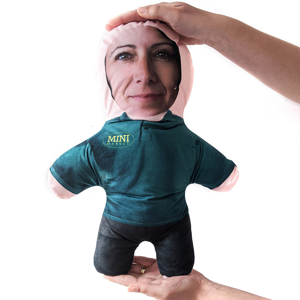 Mini Me Supermarket Employee - Personalised Doll