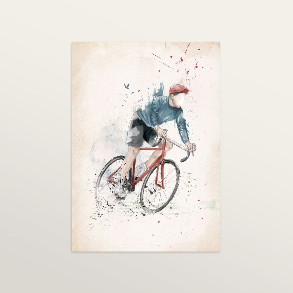 I Want To Ride My Bycicle - Art Print - large A2 print only