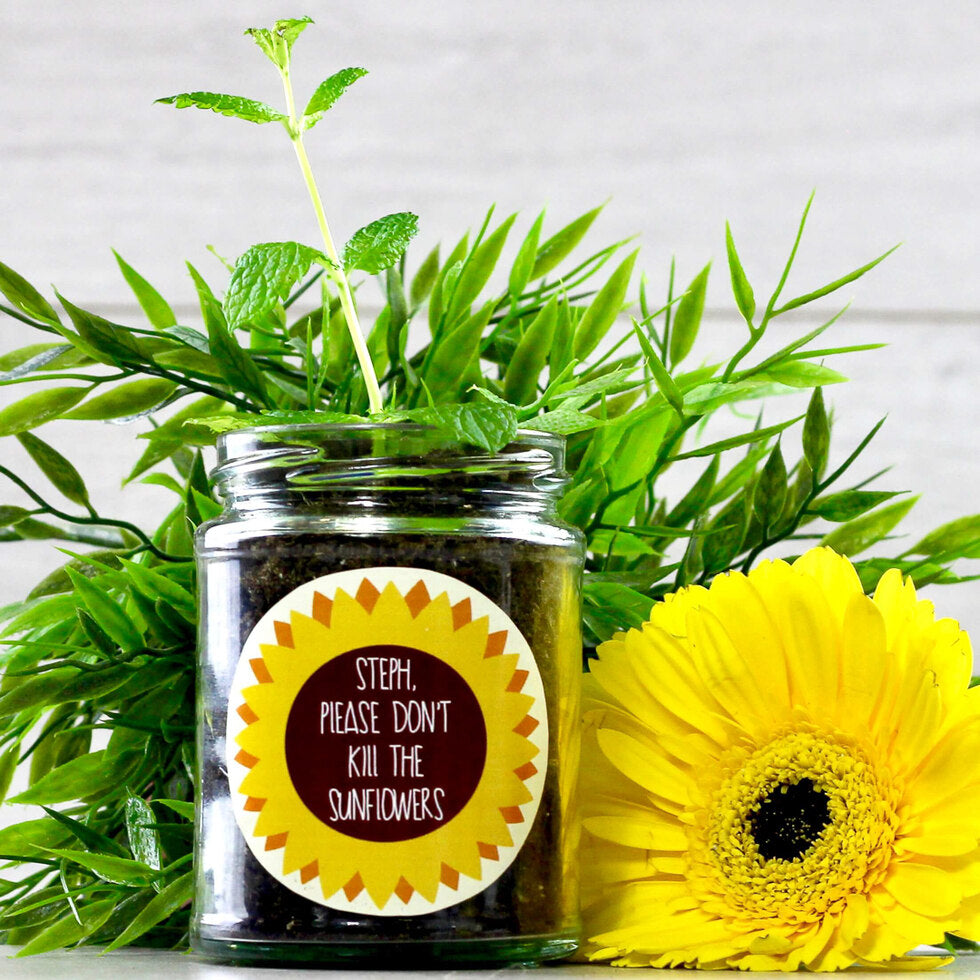 Personalised Grow Your Own Plant Jar