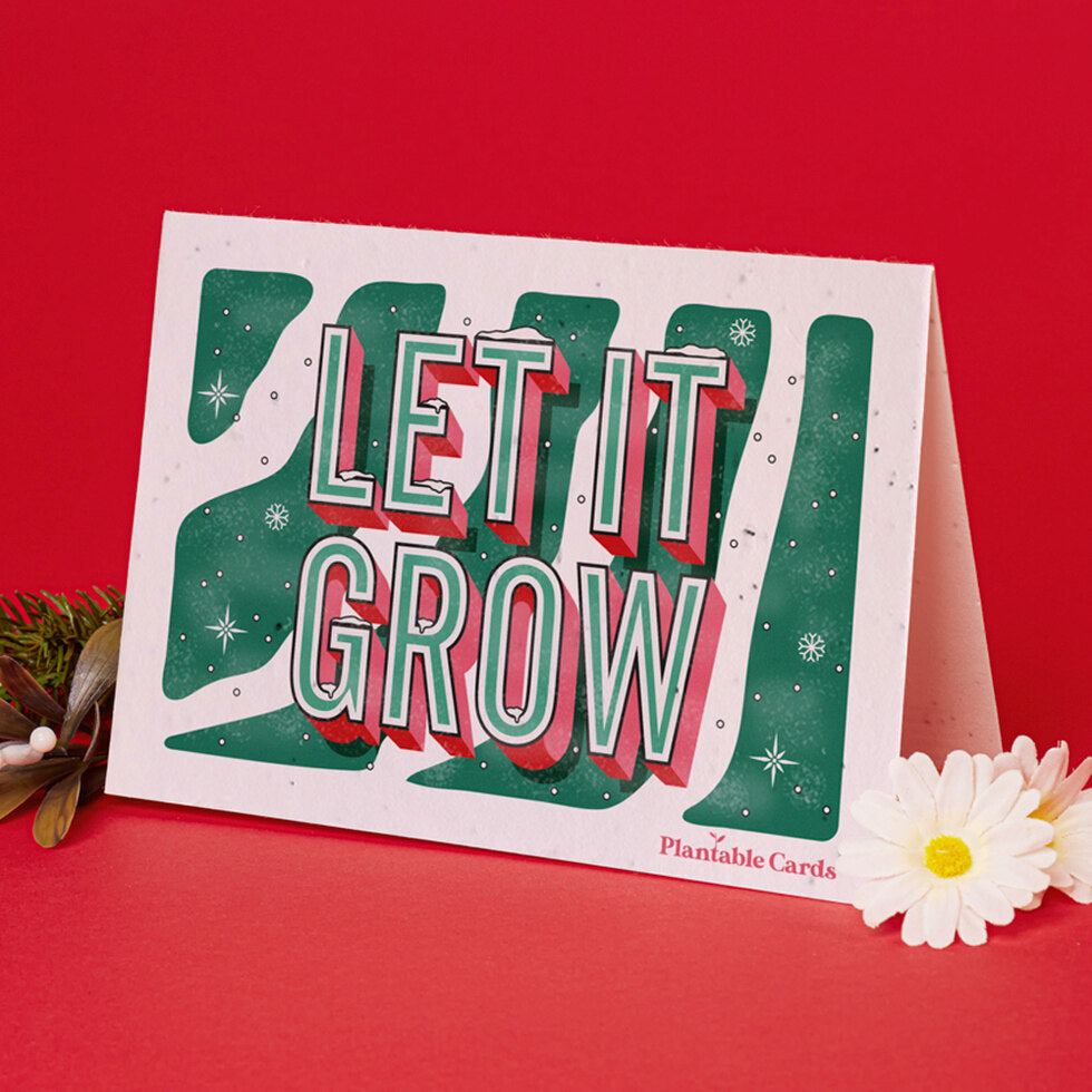 Plantable Christmas Card - Eco Friendly Seed Paper - Single