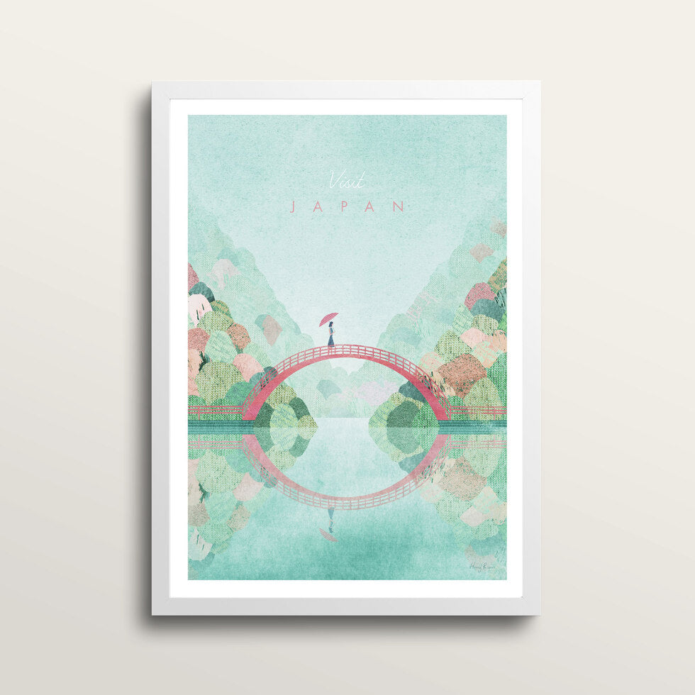 Japan 2 - Art Print - in medium A3 white frame