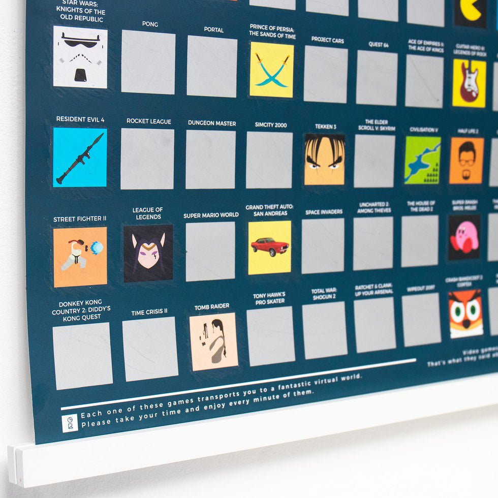 100 Games Scratch Poster