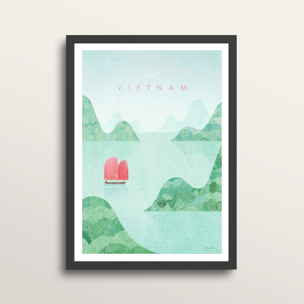 Vietnam - Art Print - in medium A3 black frame