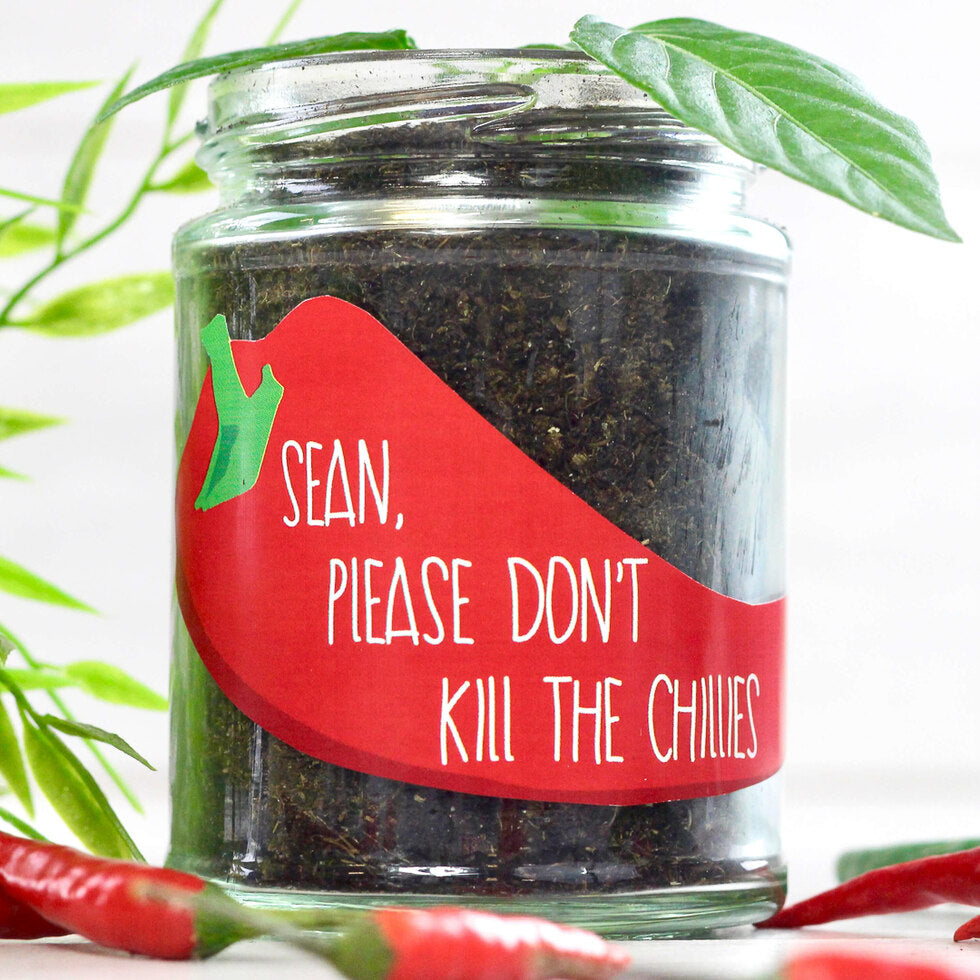 Personalised Grow Your Own Plant Jar - Chilli