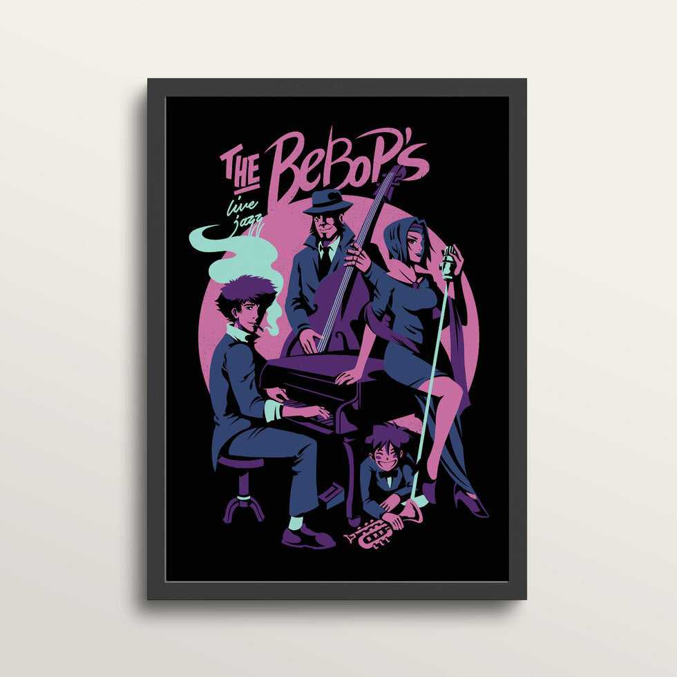 The Bebops - Art Print - in medium A3 black frame