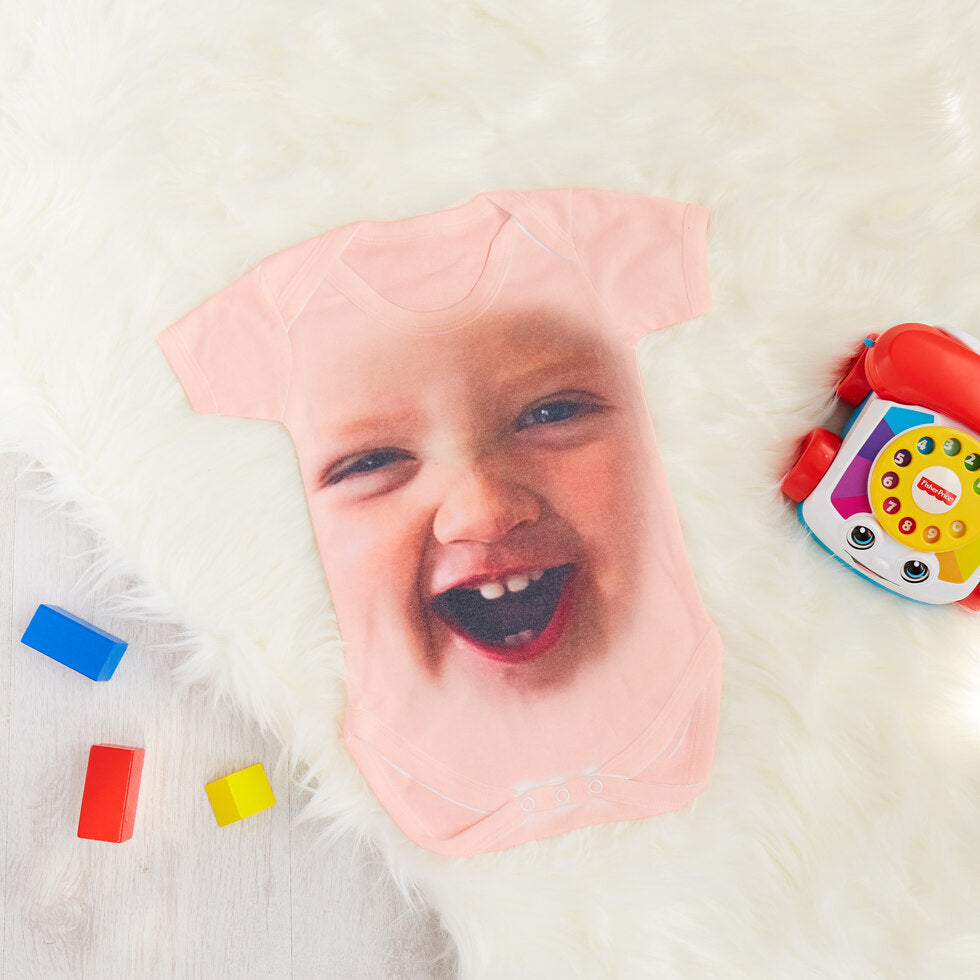 Baby Face - Personalised Baby Grow - 18-24 Months