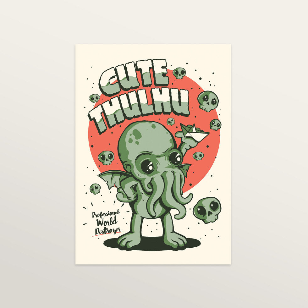 Cutethulhu - Art Print - large A2 print only