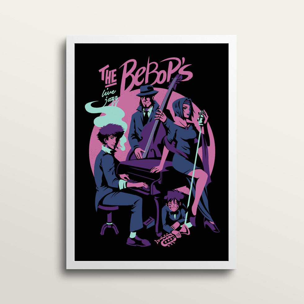 The Bebops - Art Print - in medium A3 white frame