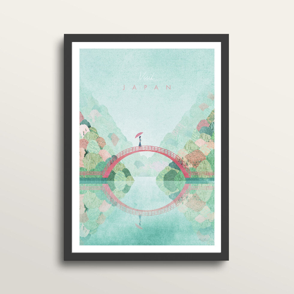 Japan 2 - Art Print - in medium A3 black frame