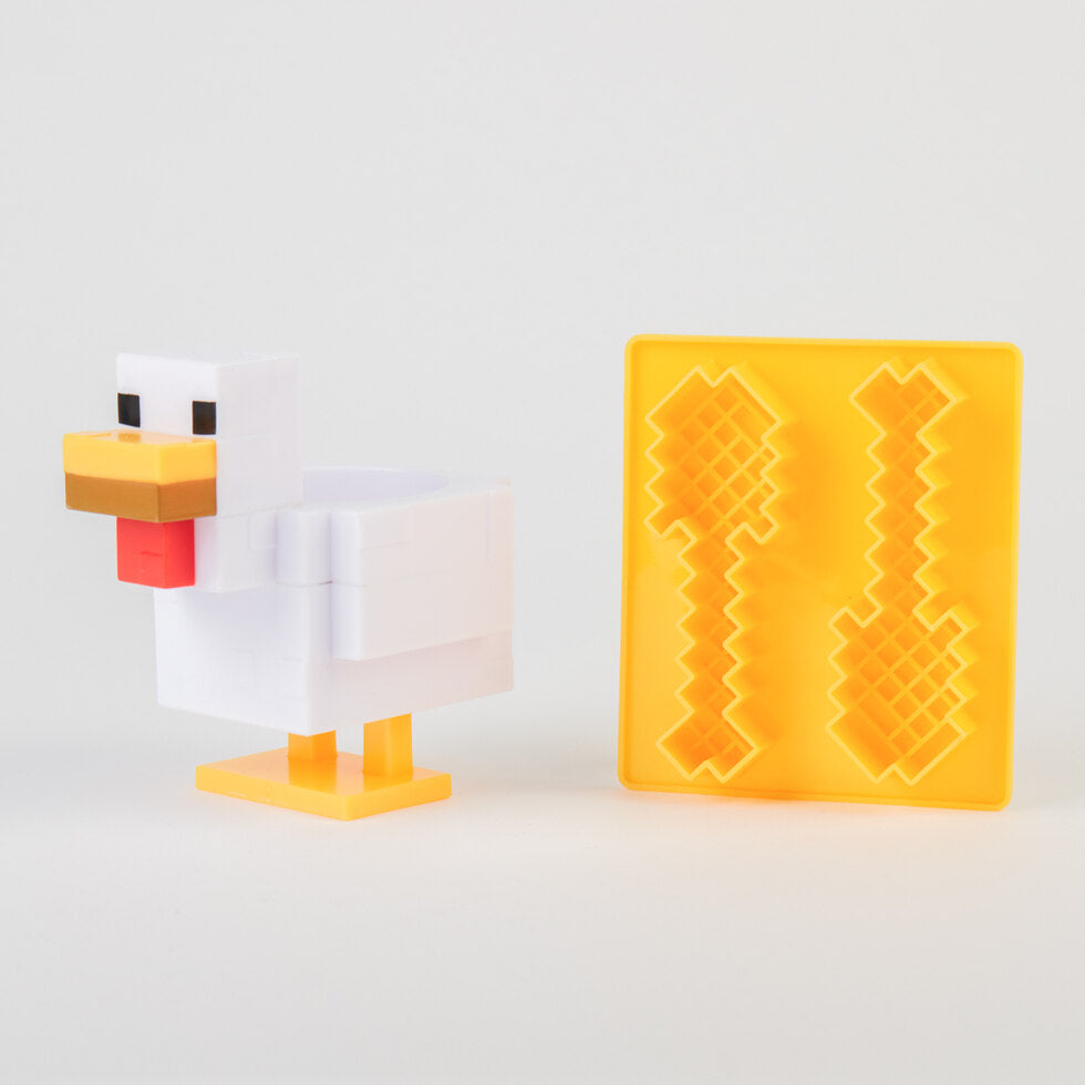 Minecraft Chicken Egg Cup and Toast Cutter