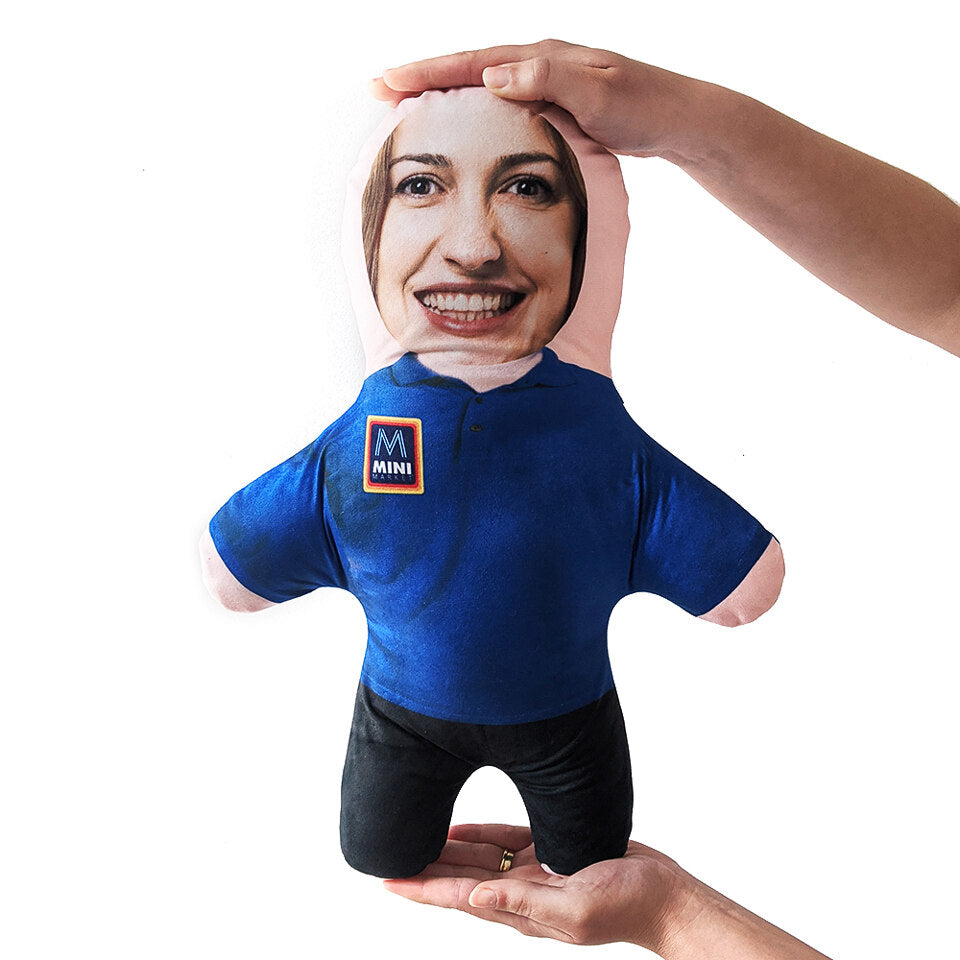 Mini Me Supermarket Employee - Personalised Doll - Uniform A