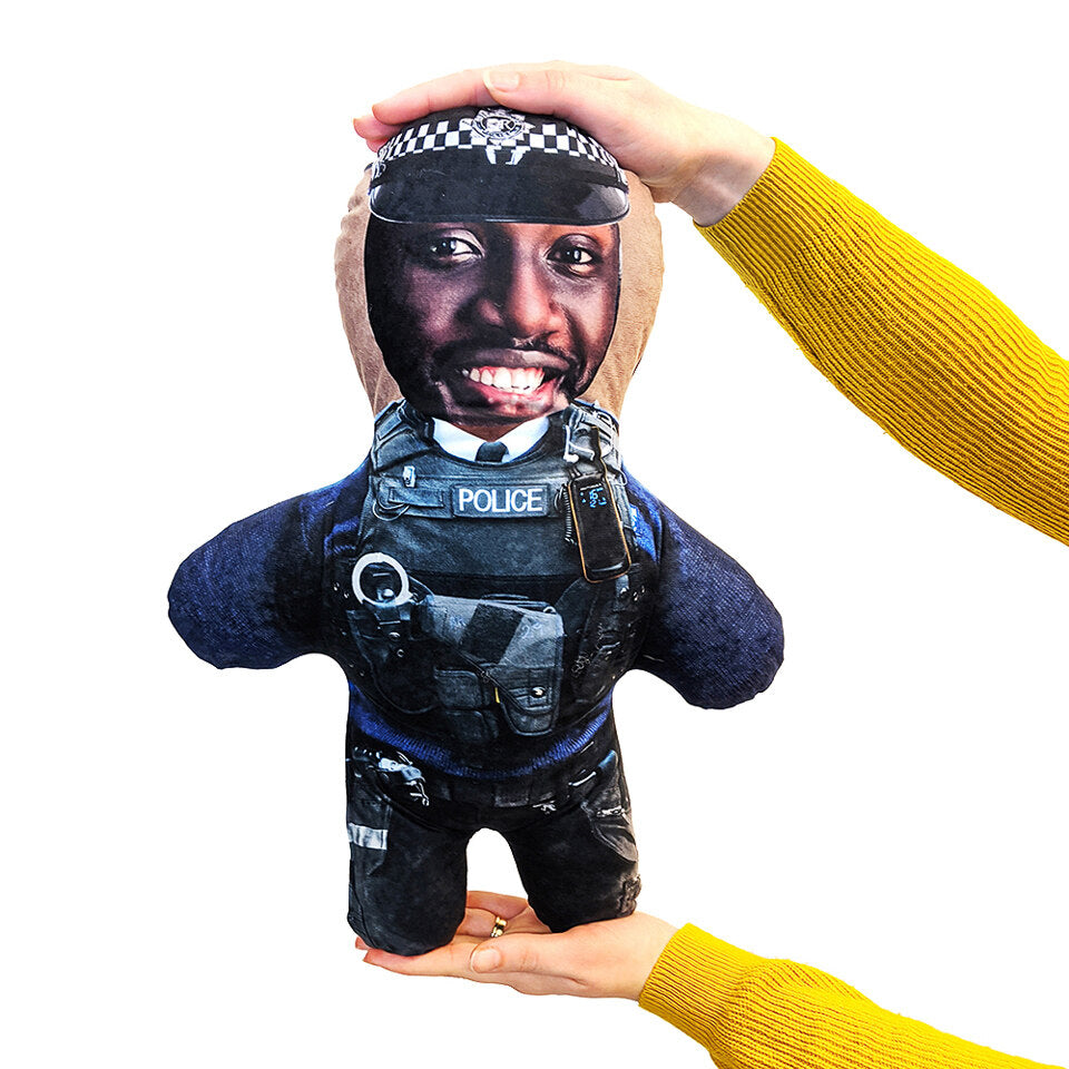 Mini Me Police Man - Personalised Doll