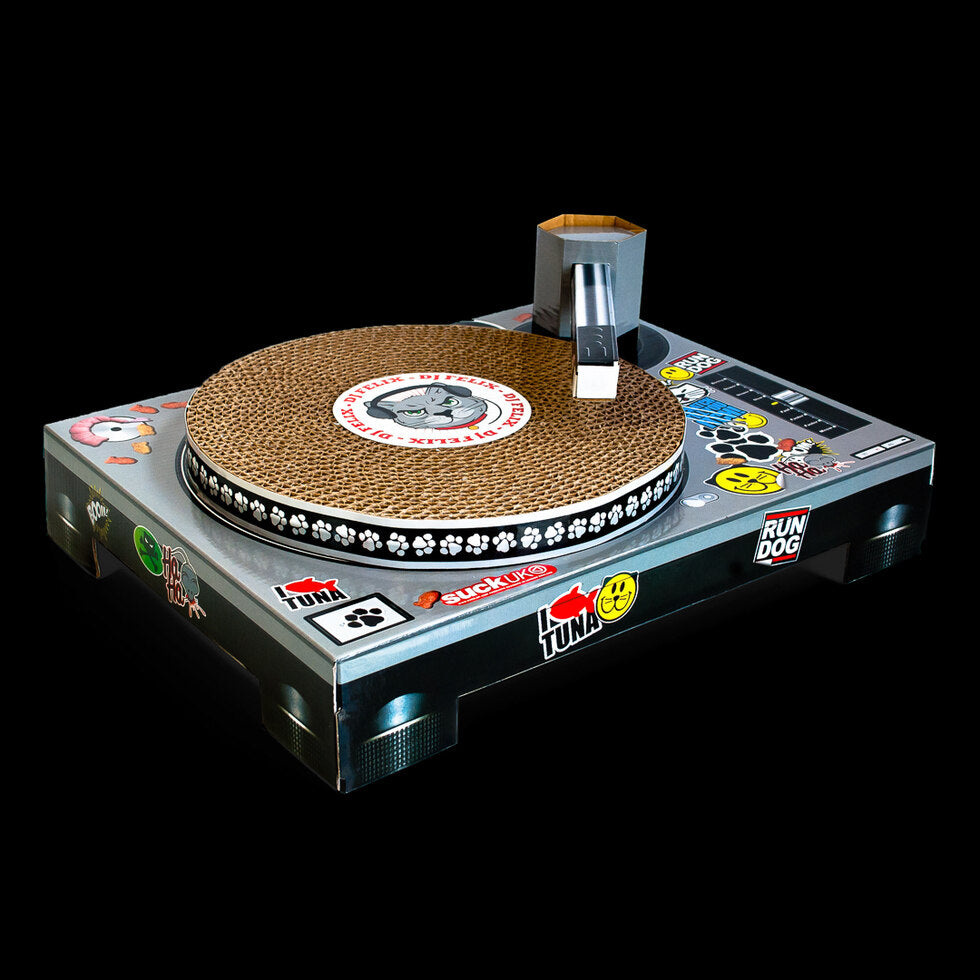 Cat DJ Scratching Decks