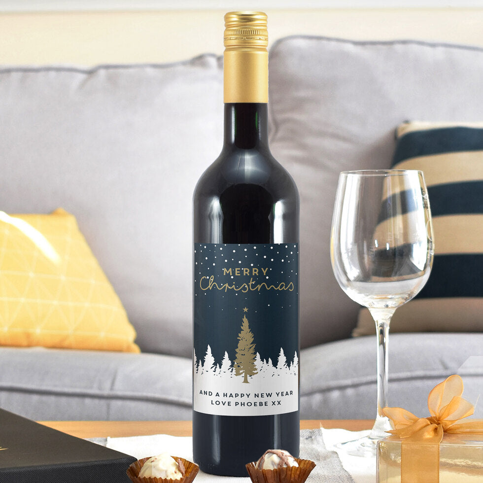 Merry Christmas Wine - Personalised Wine