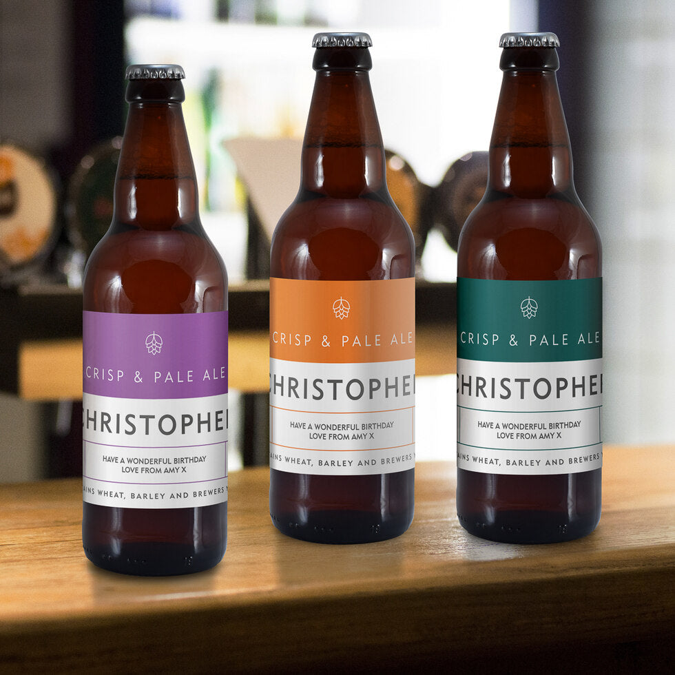 Crisp Pale Ale Trio - Personalised Beers