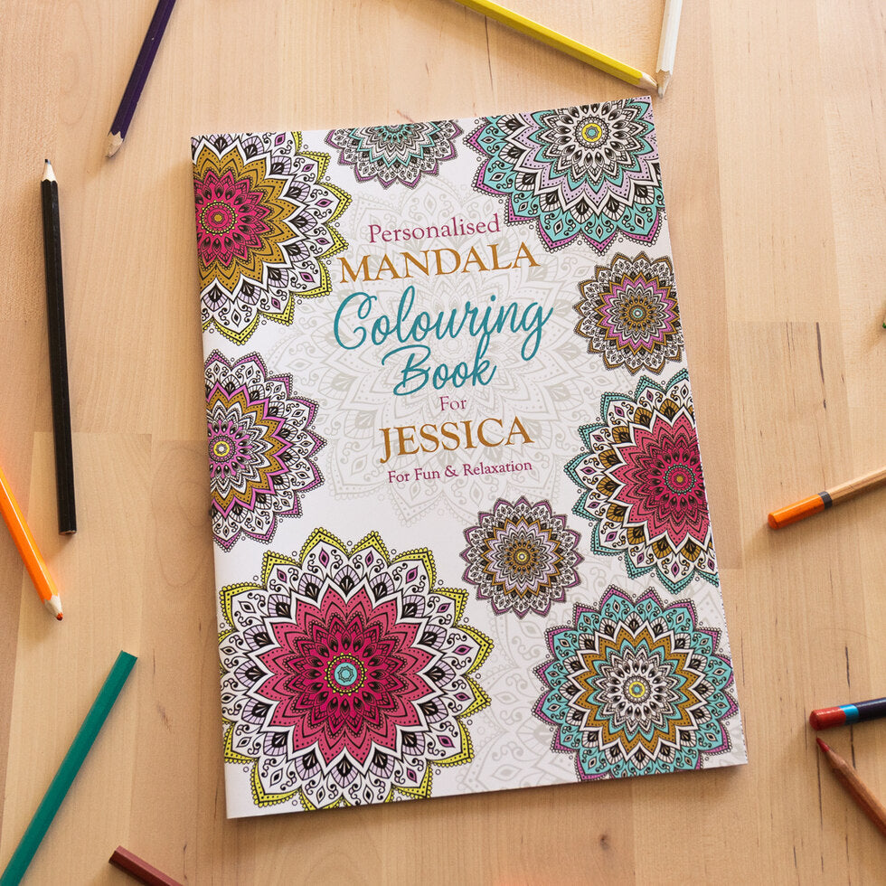 Personalised Colouring Books - Mandala
