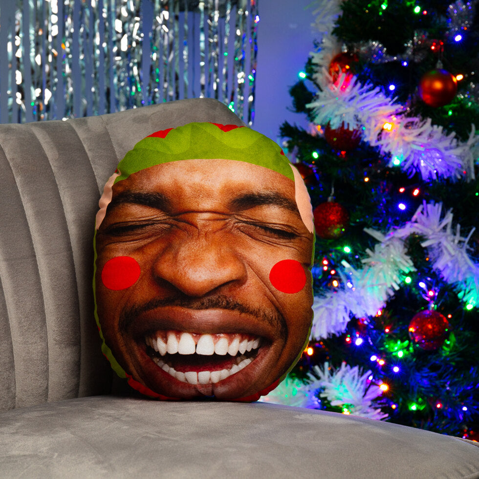 Elf Yourself Mushion - Personalised Face Cushion