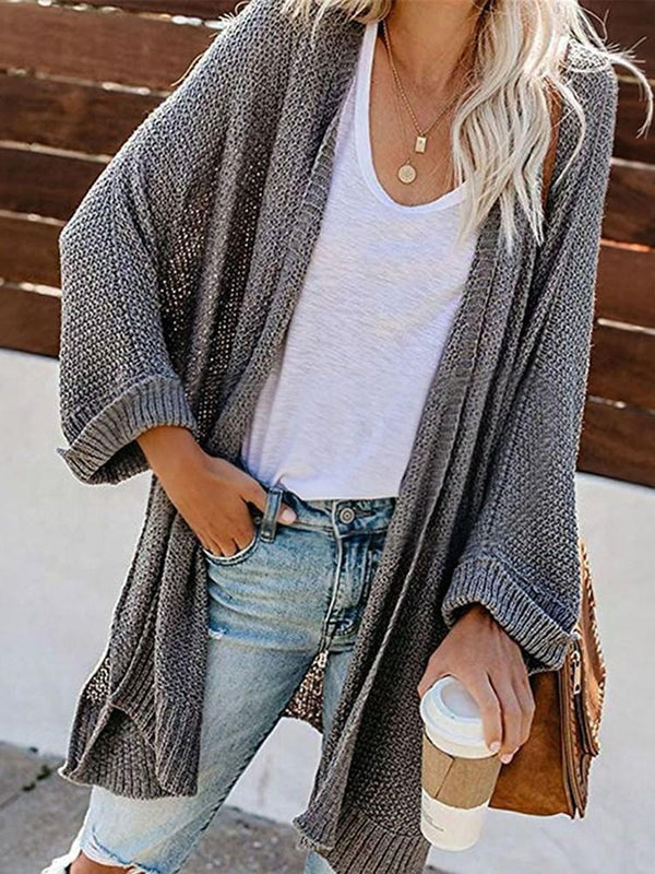 Regular Regular Wrapped Long Sleeve Loose Sweater