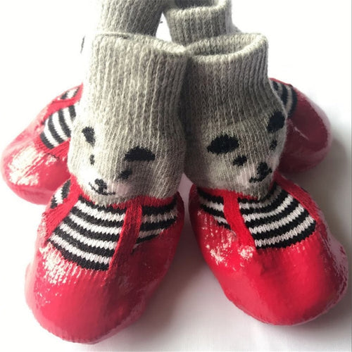 Cute Cotton Rubber Dog Shoes