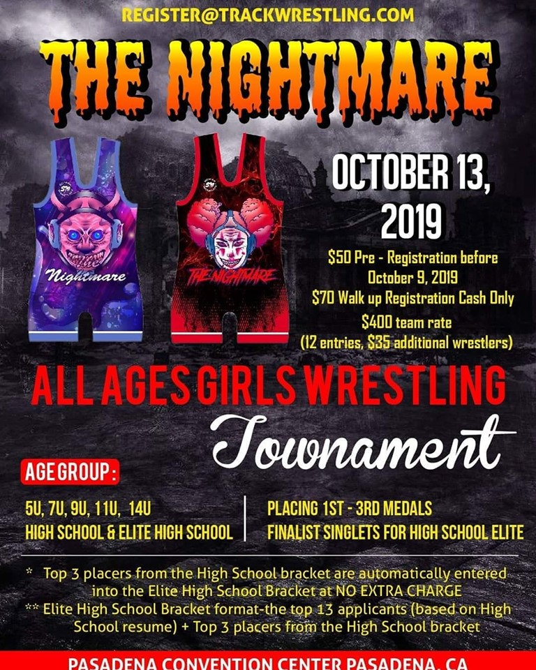Somar's Nightmare All Girls Wrestling Tournament (INCLUDES REGISTRATION)