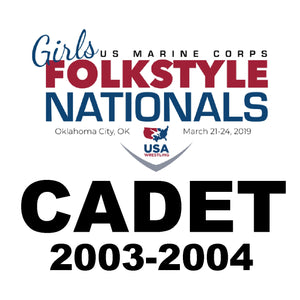 Cadet OKC Folkstyle Nationals Travel Fees