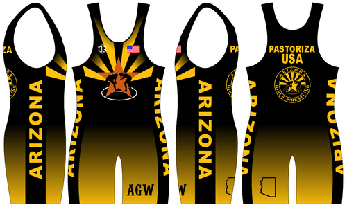 Black Folkstyle Singlet ONLY (1 total) (Dual Singlet)
