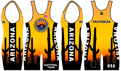 Gold Folkstyle Singlet ONLY (1 total)
