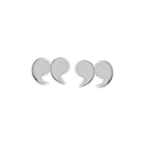 Quotation Mark Stud Earrings - Boma Life Sterling Silver