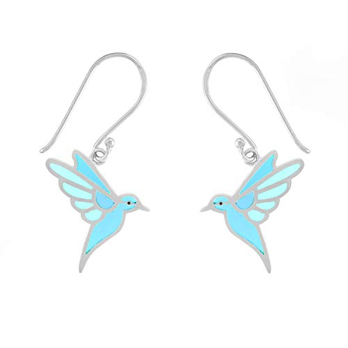 Flying Blue Bird Earrings - Boma Life Sterling Silver