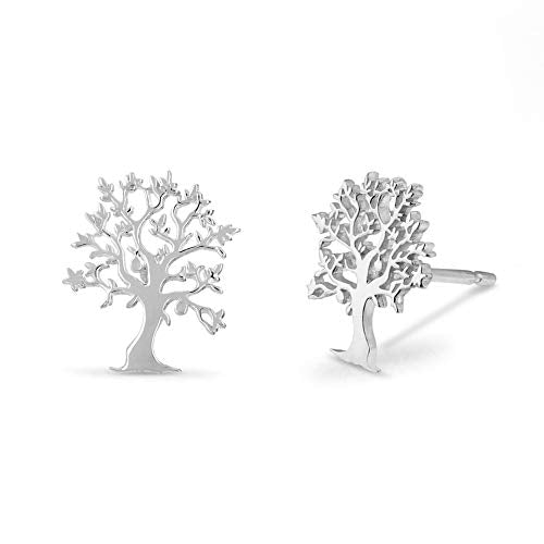 Tree of Life Stud Earrings - Boma Life Sterling Silver
