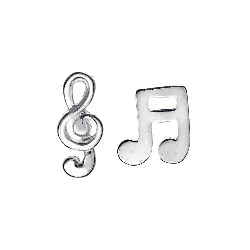 Music Note & Treble Clef Stud Earrings - Boma Life Sterling Silver