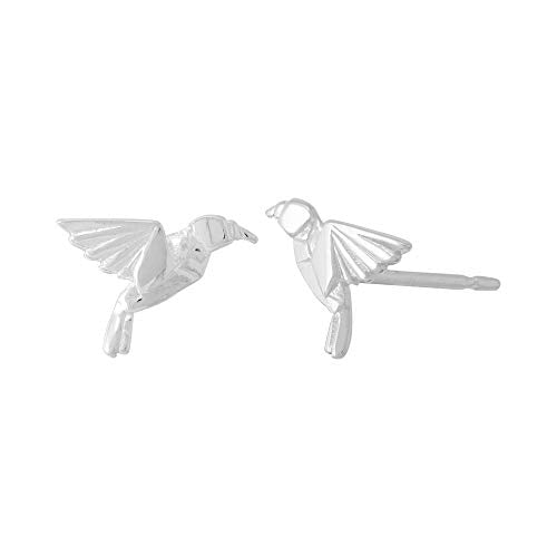 Origami Bird Stud Earrings - Boma Life Sterling Silver