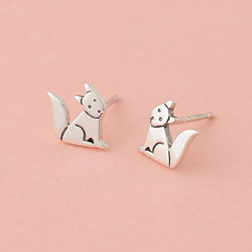 Dog Stud Earrings - Boma Life Sterling Silver