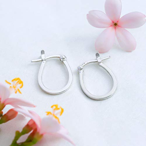 Essential Horseshoe Hoop Earrings - Boma Life Sterling Silver
